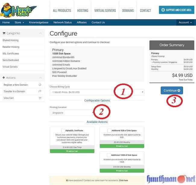 Cách đăng ký hosting Hawkhost chi tiết và đơn giản nhất 3