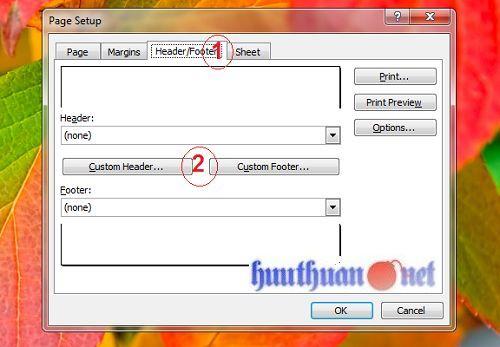 Cách đánh số trang trong các phiên bản Microsoft Excel 1