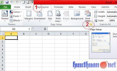 Cách đánh số trang trong các phiên bản Microsoft Excel 3
