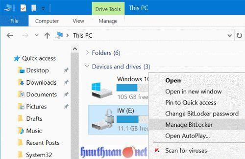 Cách sử dụng tính năng bảo vệ USB bằng mật khẩu trong Windows 10 10