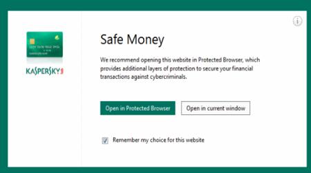 kích hoạt vô hiệu hóa Kaspersky Safe Money Trong Windows