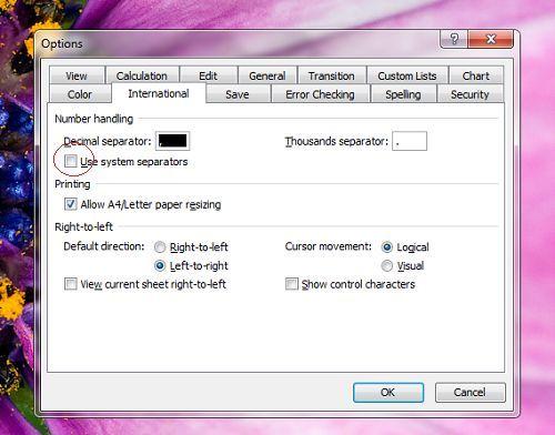 Cách đổi dấu chấm phẩy sang dấu phẩy trong công thức Excel 4