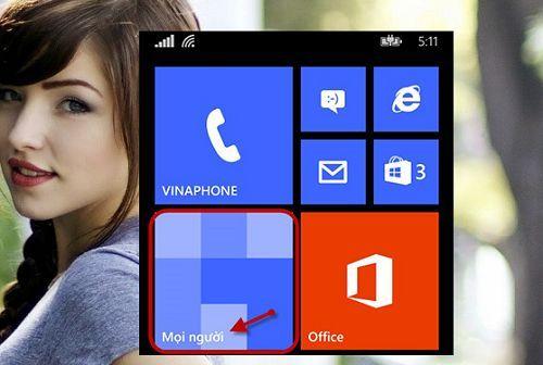 đồng bộ danh bạ Gmail trên điện thoại Windows Phone