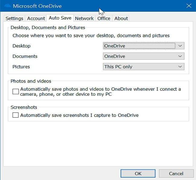 Cách lưu thư mục Desktop, Pictures... lên OneDrive trong Windows 10 2