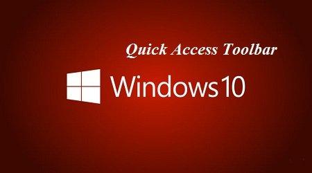 khôi phục công cụ Quick Access Toolbar về ban đầu