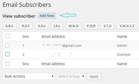 Cách tạo widget nhận bản tin qua email trong wordpress