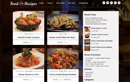 5 giao diện đẹp dành cho các trang web về thực phẩm 5