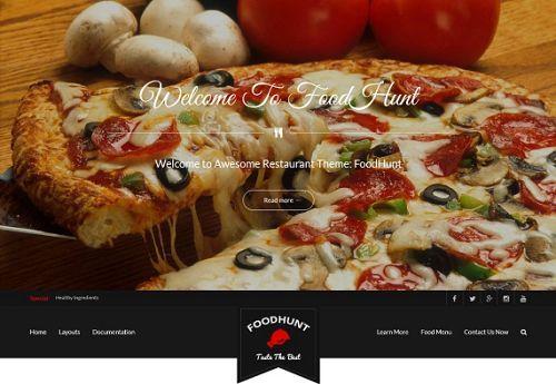 5 giao diện đẹp dành cho các trang web về thực phẩm 4