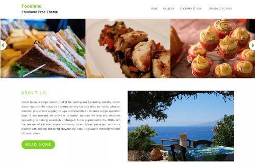 5 giao diện đẹp dành cho các trang web về thực phẩm 6