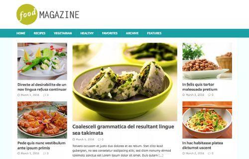 5 giao diện đẹp dành cho các trang web về thực phẩm 3