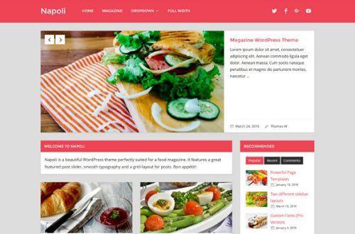 5 giao diện đẹp dành cho các trang web về thực phẩm 2