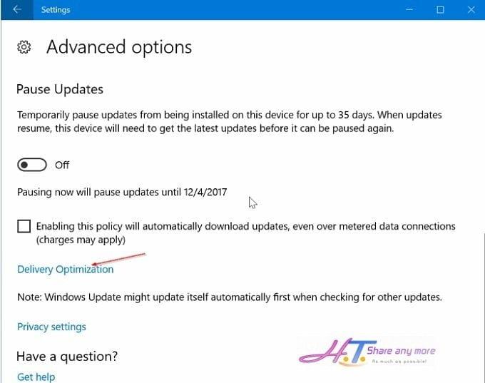 Cách hạn chế băng thông khi Windows 10 cập nhật bản vá 2