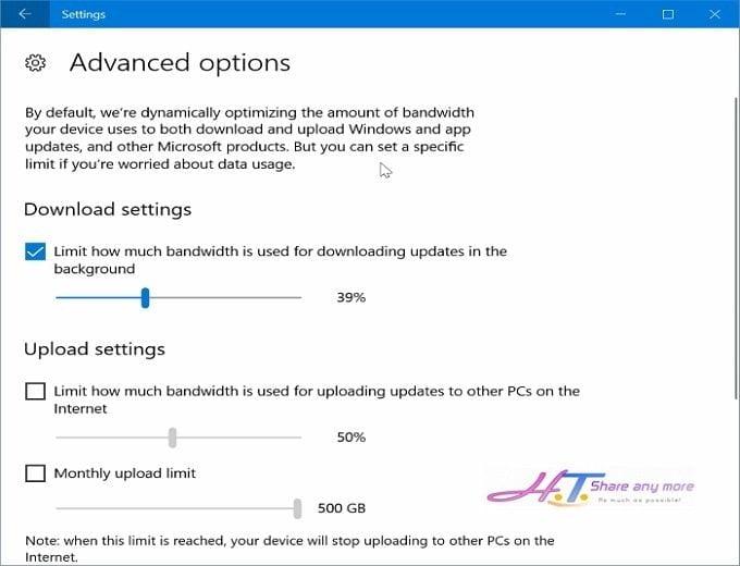 Cách hạn chế băng thông khi Windows 10 cập nhật bản vá 4