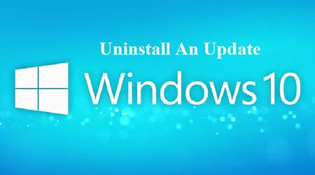 gỡ bỏ các phiên bản cập nhật mới trong Windows 10
