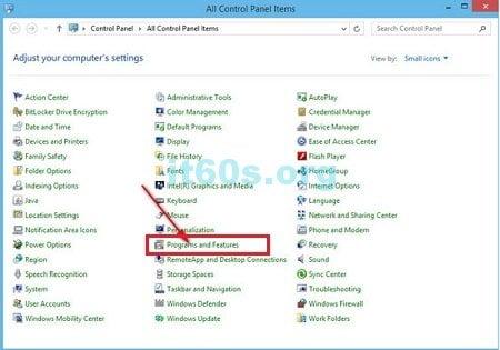 Thủ thuật máy tính cách gỡ bỏ phần mềm trên windows 8