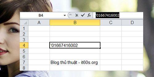 Cách viết số không ở trước trong Microsoft Excel