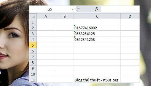 Cách viết số không ở trước trong Microsoft Excel đơn giản 2