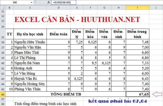Excel căn bản: Sử dụng hàm Round làm tròn số trong Excel 3