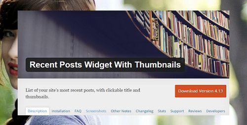 hiển thị bài viết gần đây bằng Widget trên WordPress