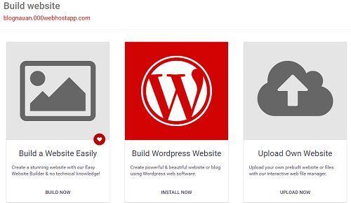 Tạo trang Web Wordpress bằng hosting miễn phí tốc độ chóng mặt 4