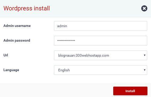Tạo trang Web Wordpress bằng hosting miễn phí tốc độ chóng mặt 5