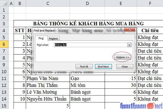 Cách khắc phục lỗi tìm kiếm Excel khi sử dụng Ctrl + F đơn giản 1