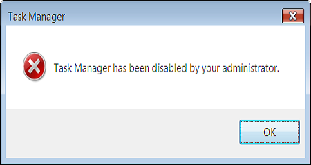 "Khắc phục lỗi ""Task Manager disabled by Administrator"" do virus"