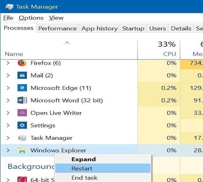 Cách khắc phục lỗi thanh Taskbar không hoạt động trong Windows 10