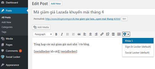 Cách chia sẻ bài viết lên mạng xã hội bằng cách khóa nội dung quan trọng 5