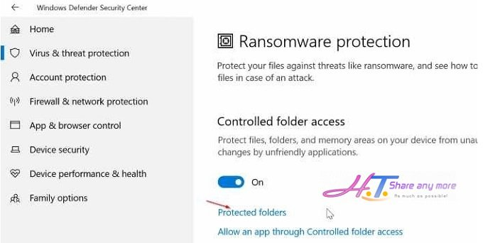Cách kích hoạt chế độ ngăn chặn Ransomware trong Windows 10 5