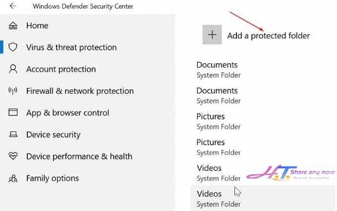 Cách kích hoạt chế độ ngăn chặn Ransomware trong Windows 10 6