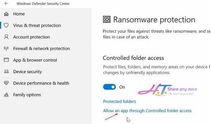 Cách kích hoạt chế độ ngăn chặn Ransomware trong Windows 10 7