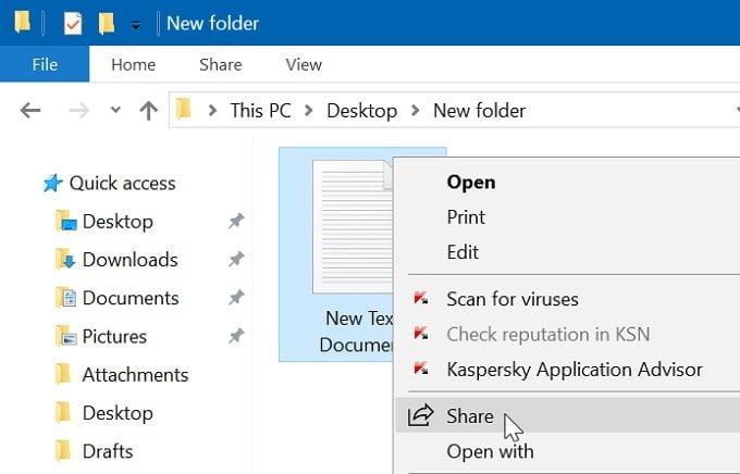 Cách chia sẻ tập tin giữa hai máy tính sử dụng Windows 10 2