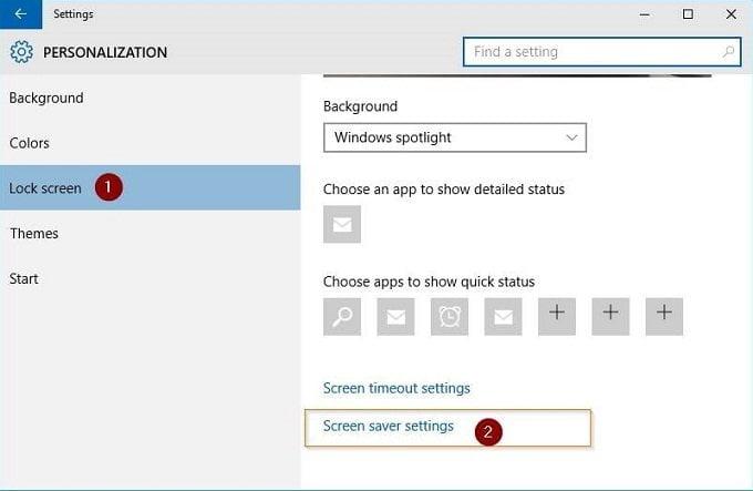 Cách kích hoạt màn hình chờ (Screen Saver) trong Windows 10? 2