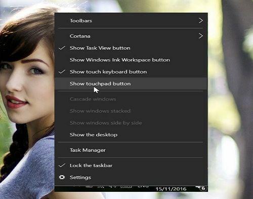 kích hoạt touchpad ảo trong Windows 10 đơn giản