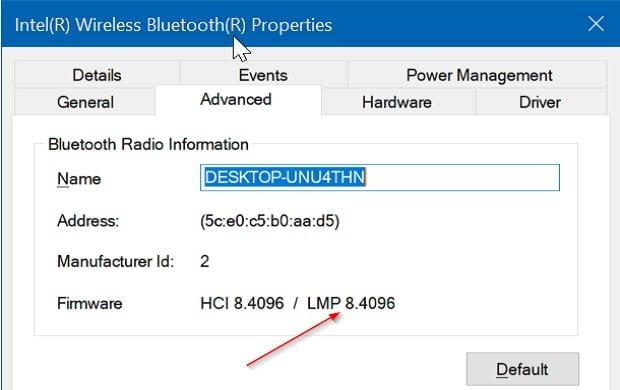 Cách kiểm tra phiên bản Bluetooth được cài đặt trong Windows 10 3