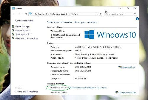 kiểm tra windows 10 đã được kích hoạt hay chưa?