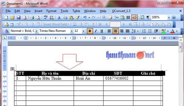 lặp lại tiêu đề khi in trong Microsoft Word đơn giản