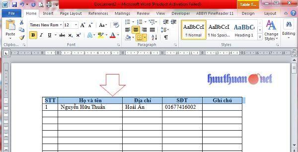 Cách lặp lại tiêu đề khi in trong Microsoft Word đơn giản 2