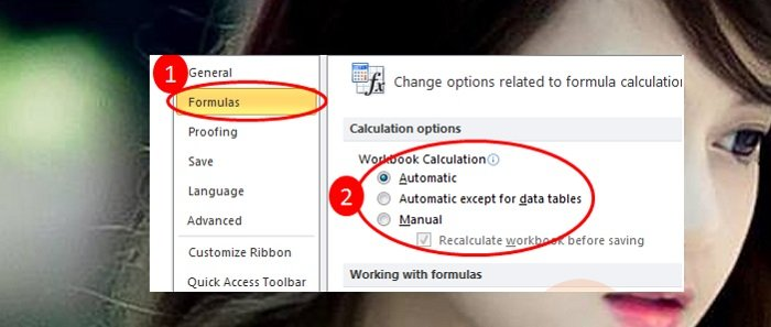 Cách sửa lỗi công thức Excel không tính toán và tự động cập nhật 4