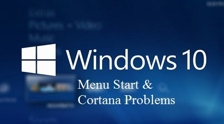 loi menu start va cortana windows10