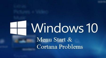 Cách sửa chữa Menu Start và Cortana không làm việc trên windows 10