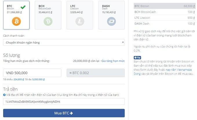 Cách mua và bán Bitcoin và một số tiền ảo khác uy tín tại Việt Nam 5