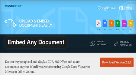 nhúng mọi file tài liệu vào WordPress