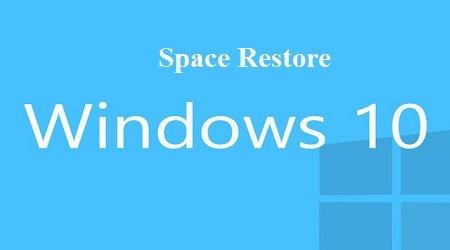 không gian đĩa khôi phục hệ thống trong Windows 10