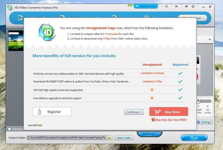 Độc quyền miễn phí phần mềm WonderFox HD Video Converter Factory Pro 9