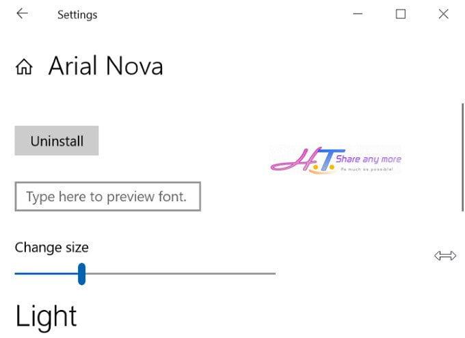 Cách cài đặt phông chữ mới trên cửa hàng Windows Store 10 9