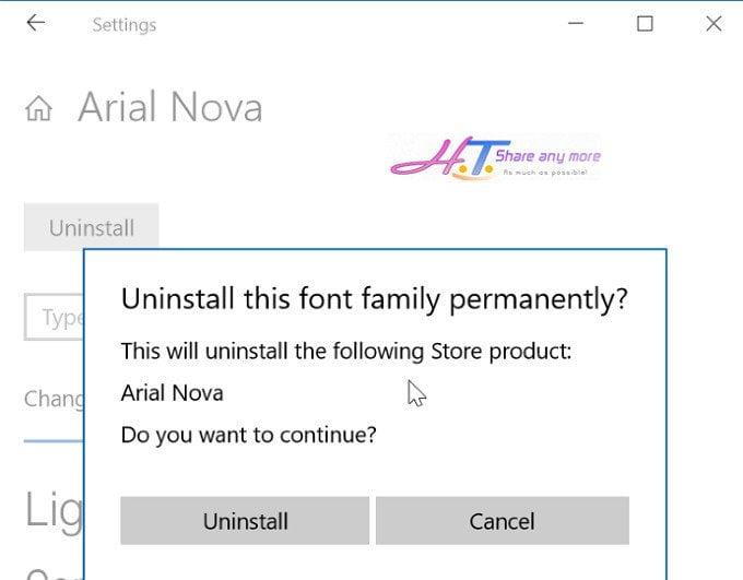Cách cài đặt phông chữ mới trên cửa hàng Windows Store 10 10