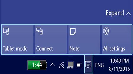 Cách tùy chỉnh thông báo và Action Center trong Windows 10