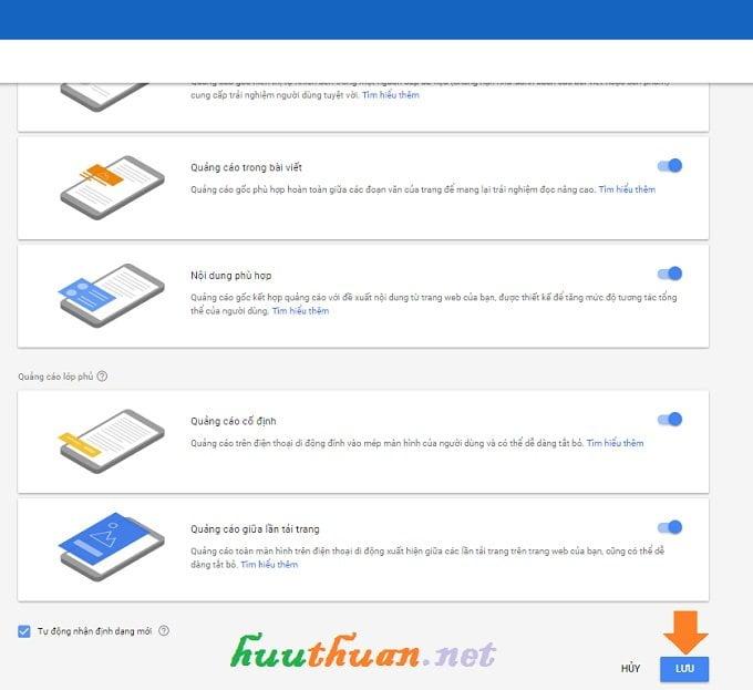 Kích hoạt tính năng tự động phân phối quảng cáo trong Google Adsense 2